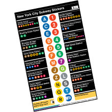 New York Subway Stations Sticker Sheet