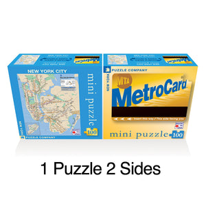 MetroCard - Subway Map Double Sided Puzzle Mini