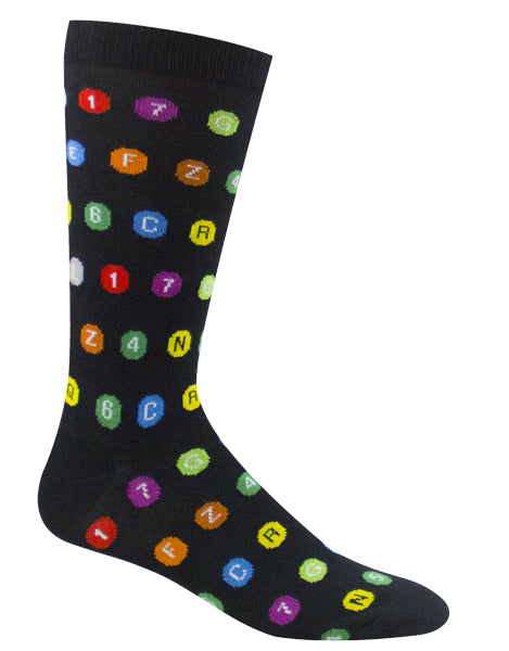 Subway Route Symbols Socks