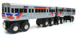 Silverliner V (2 Car Set) Wooden Train