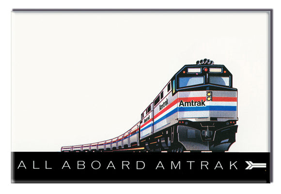 All Aboard Amtrak Magnet