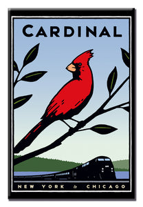 Cardinal (NYC to Chicago) Magnet