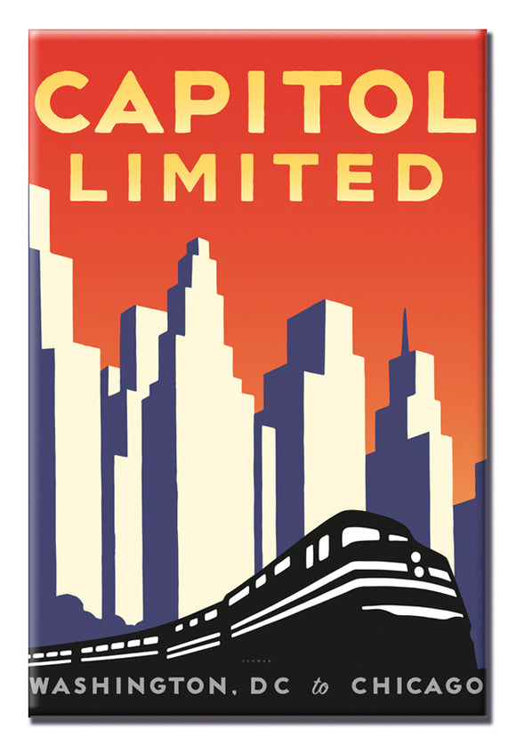 Capitol Limited (Washington DC to Chicago) Magnet