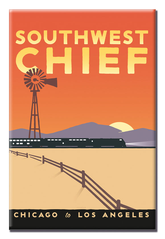 Southwest Chief (Chicago to LA) Magnet
