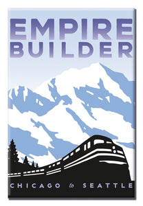 Empire Builder (Chicago to Seattle) Magnet