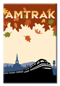 Amtrak (Fall Leaves) Magnet