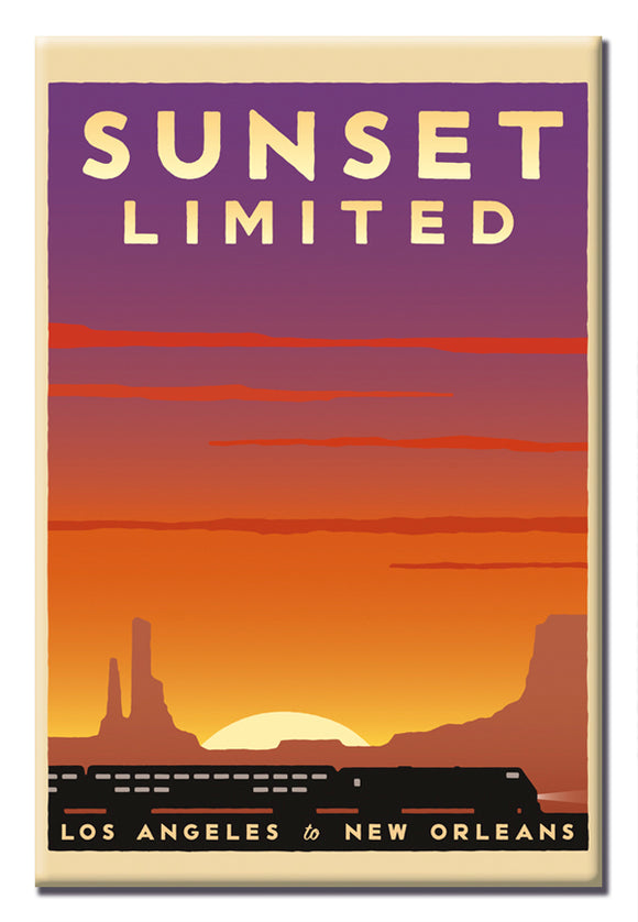 Sunset Limited (LA to New Orleans) Magnet