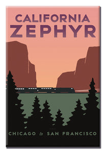 California Zephyr (Chicago to San Francisco) Magnet