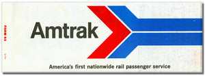 Retro Amtrak Ticket Long Magnet