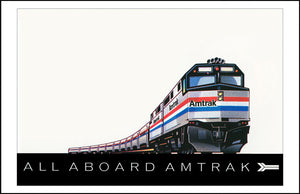 All Aboard Amtrak Print