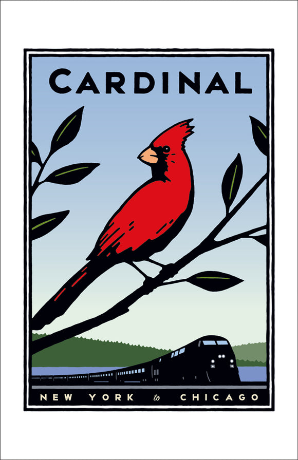 Cardinal (NYC to Chicago) Print