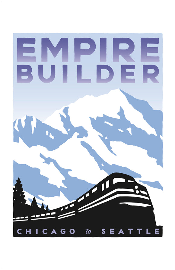 Empire Builder (Chicago to Seattle) Print