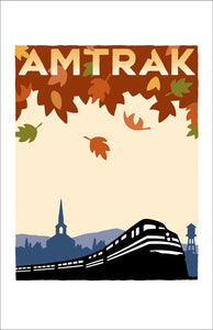 Amtrak (Fall Leaves) Print