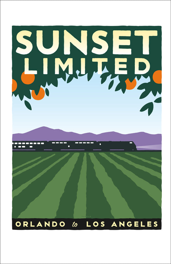 Sunset Limited (Orlando to LA) Print