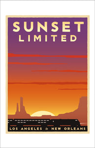 Sunset Limited (LA to New Orleans) Print