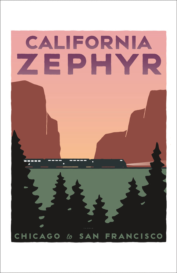 California Zephyr (Chicago to San Francisco) Print
