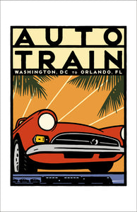Auto Train (DC to Orlando) Print