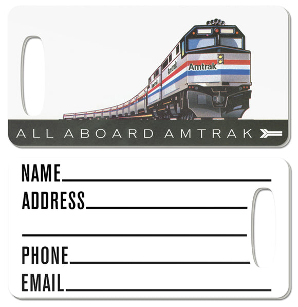 All Aboard Amtrak Luggage Tag