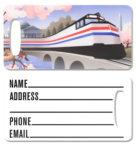 Cherry Blossoms (Washington, DC) Luggage Tag