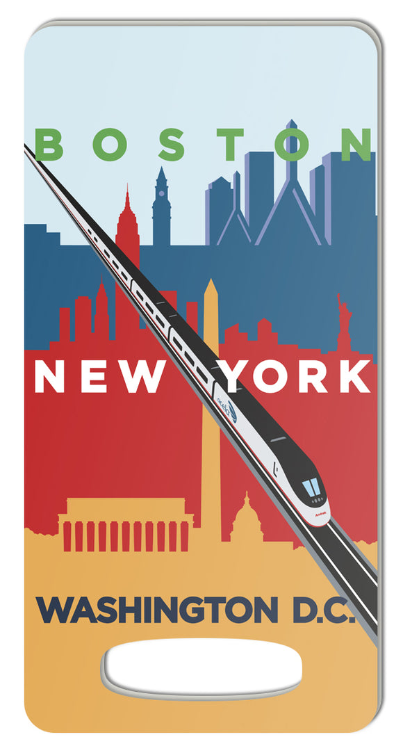 Acela (Boston-NY-DC) Luggage Tag