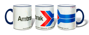 Retro Amtrak Ticket Mug