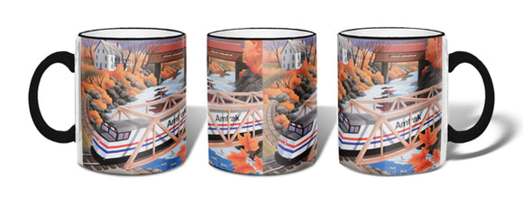 Amtrak Covered Bridge Mug