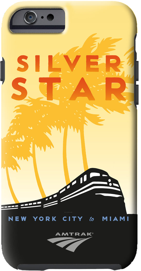 Silver Star (NYC to Miami) iPhone Case