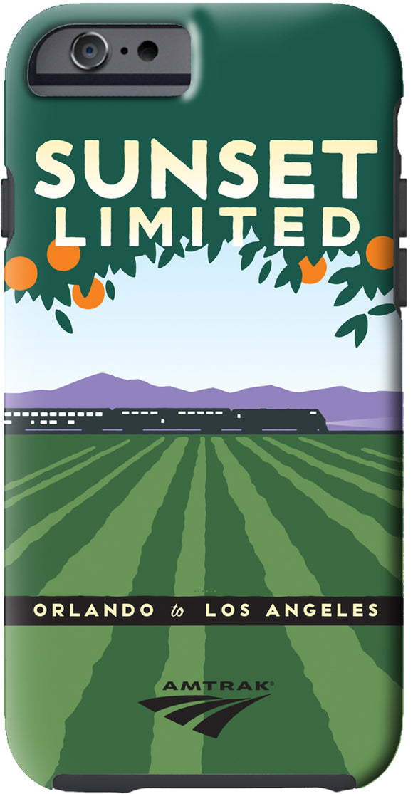 Sunset Limited (Orlando to Los Angeles) iPhone Case