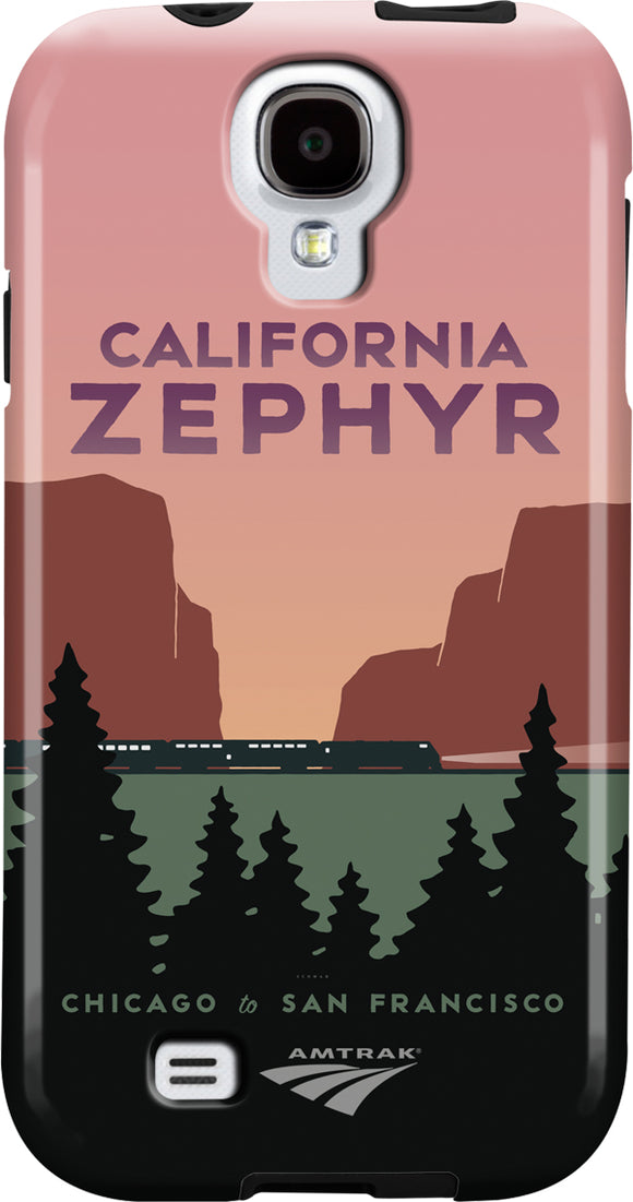 California Zephyr (Chicago to SF) Galaxy Case