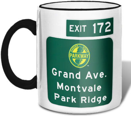 Grand Ave / Montvale / Park Ridge (Exit 172) Mug