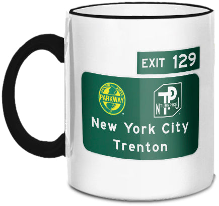 New York City / Trenton (Exit 129) Mug
