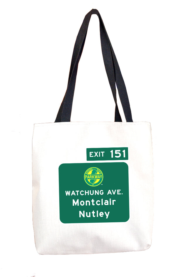 Watchung Ave. / Montclair / Nutley (Exit 151) Tote