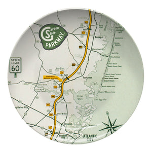 Garden State Parkway Retro Map Resin Plate