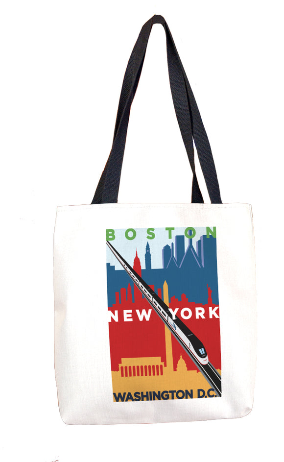 Acela (Boston NY DC) Tote Bag