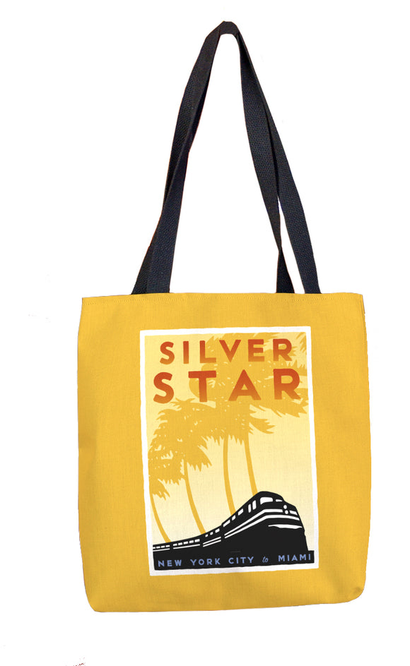 Silver Star (NYC to Miami) Tote Bag