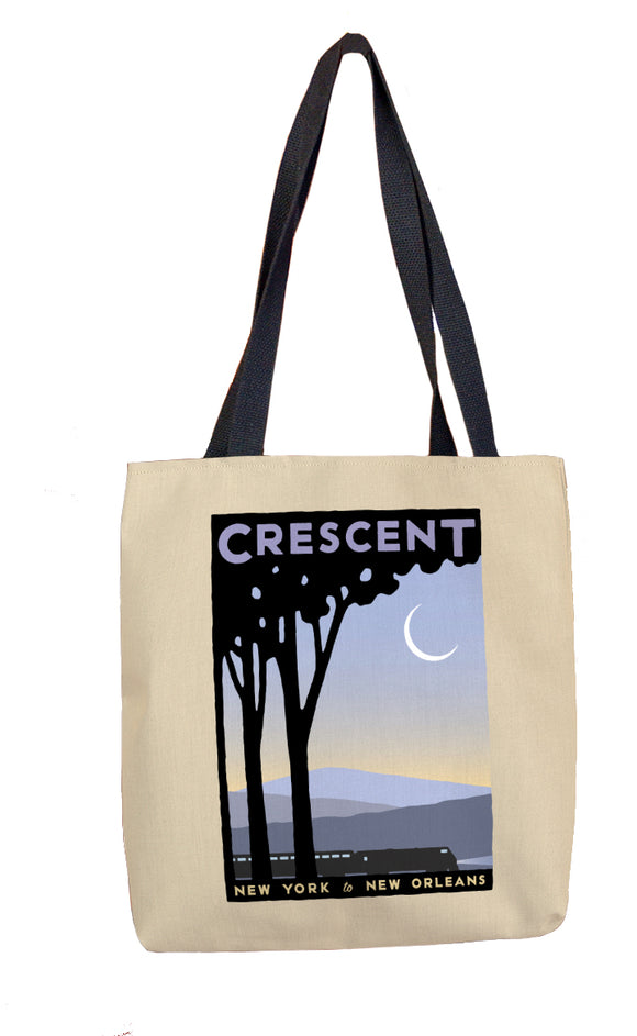 Crescent (NYC to New Orleans) Tote Bag