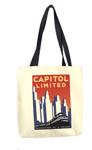 Capitol Limited (Washington DC to Chicago) Tote Bag
