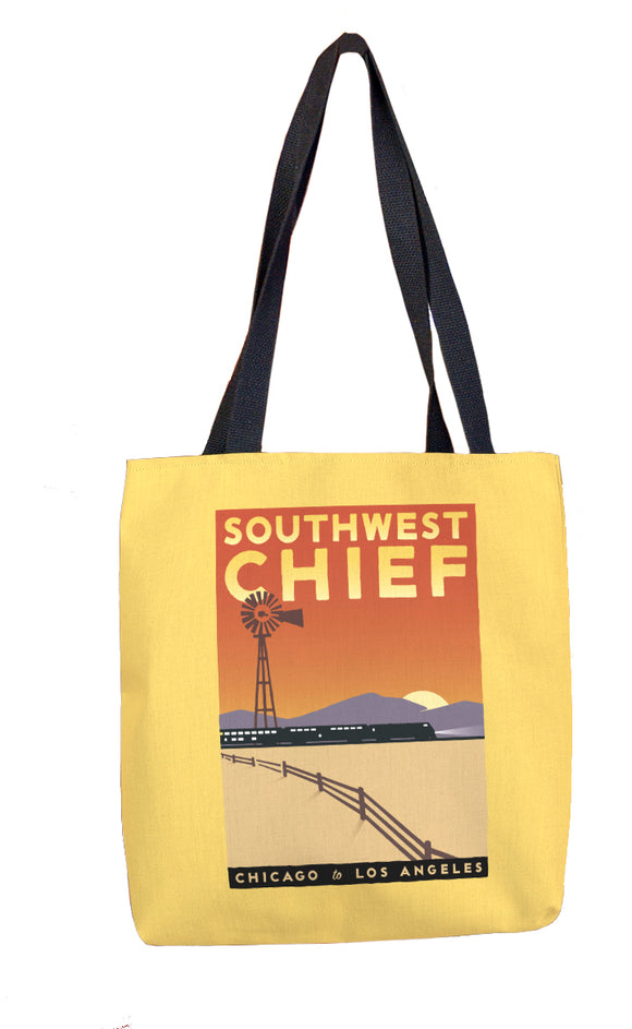 Southwest Chief (Chicago to LA) Tote Bag