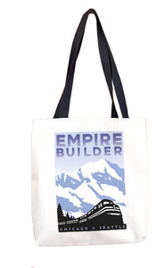 Empire Builder (Chicago to Seattle) Tote Bag