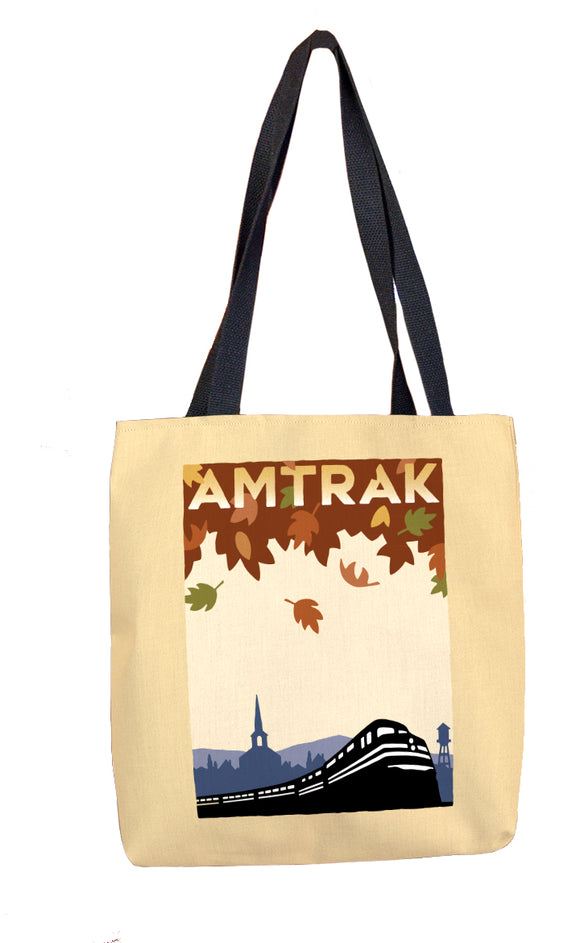 Amtrak (Fall Leaves) Tote Bag