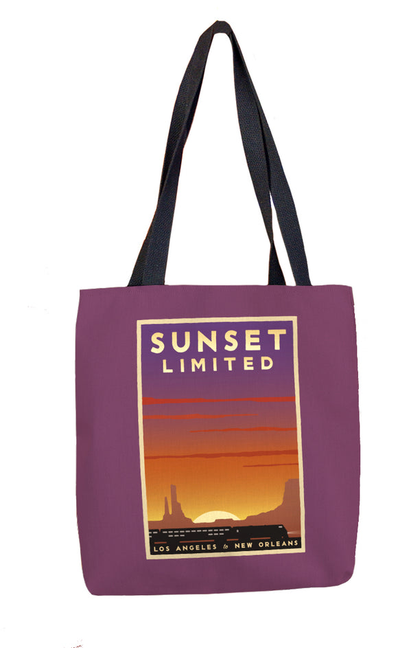 Sunset Limited (LA to New Orleans) Tote Bag
