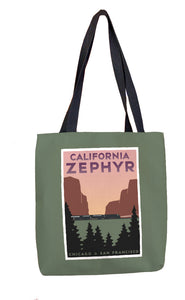 California Zephyr (Chicago to San Francisco) Tote Bag