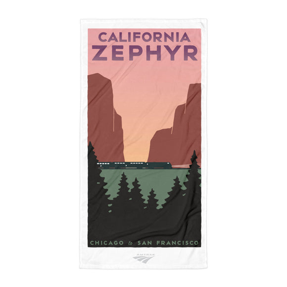 California Zephyr (Chicago to San Francisco) Towel