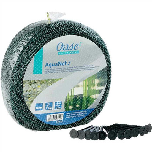 Oase Living Water Filets de protection Aquanet 2 - Filet de protection de Bassin 4 x 8M + piquets - Oase 4010052537528 53752