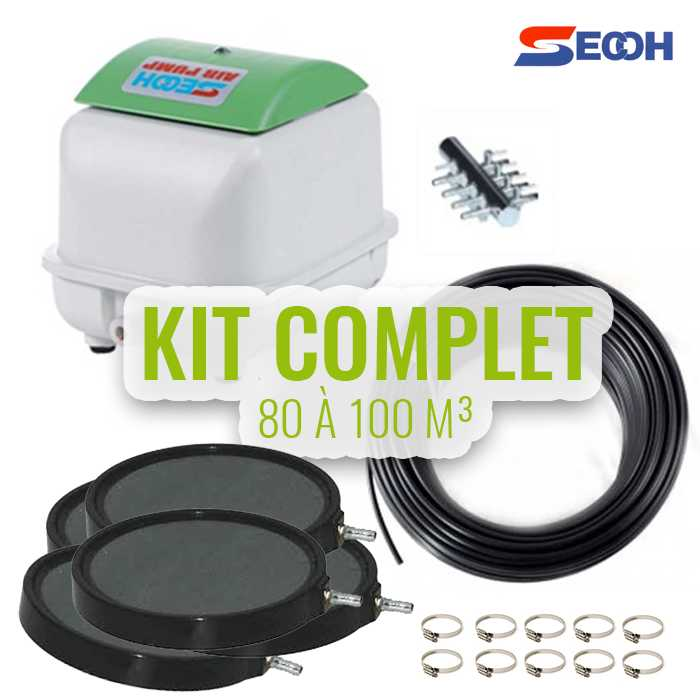 Secoh Aérateurs de bassin Kit n°6 pour bassin de 60 à 80M³ - Japan quality - Secoh 9854983216551 AQSP05