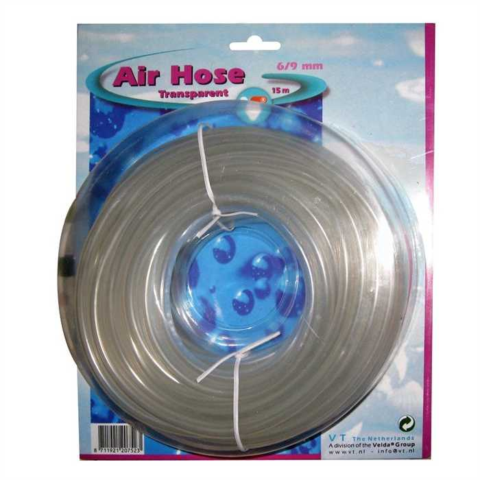 Velda Tuyaux d'air Tuyau flexible pour air transparent 6-9MM- Pack de 15M - Velda 8711921207523