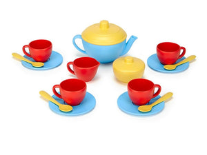 Green Toys Children's Tea Set Blue/Red/Yellow