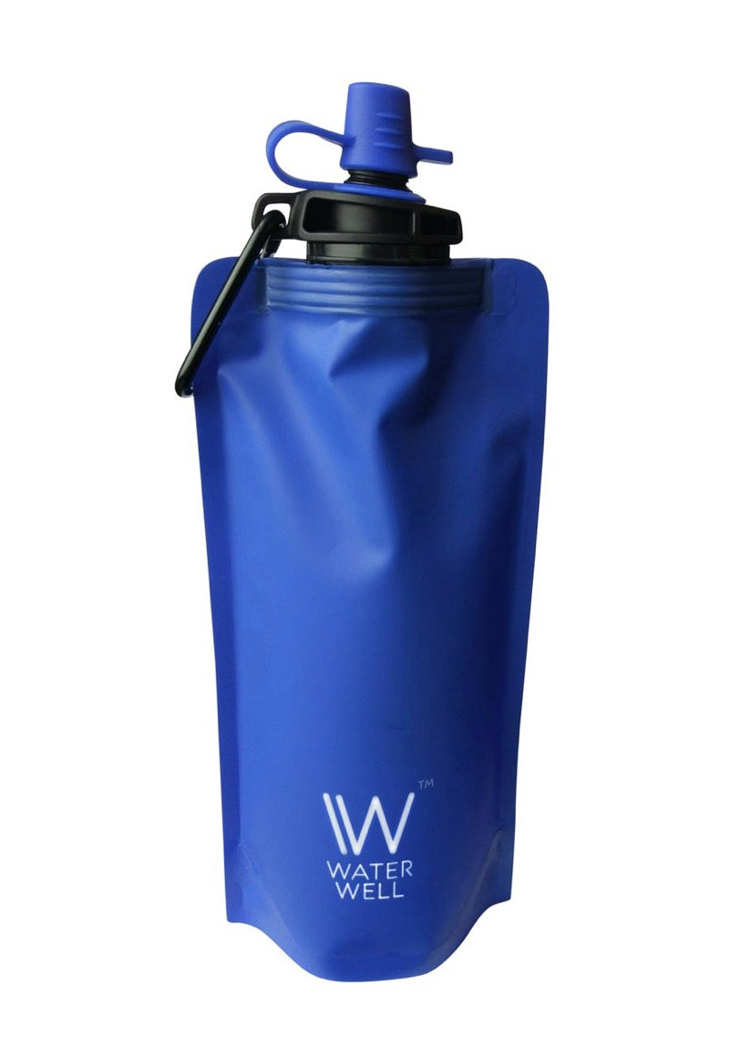500ml Foldable Squeeze Travel Water Bottle