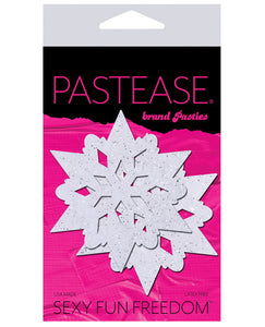 Pastease Glitter Snow Flake - White O-s