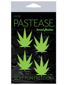 Pastease Petites Leaf - Glow In The Dark Green O-s Pack Of 2